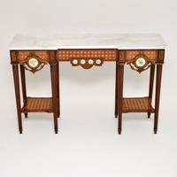 Antique French Marble Top Console Table (2 of 11)