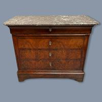 French Marble Top Commode with Writing Surface (8 of 9)