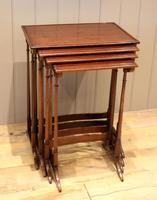 Mahogany Nest of Four Tables (10 of 11)