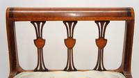 Elegant Edwardian Inlaid Mahogany  Piano Stool, Dressing  Stool, Re-upholstered (6 of 20)