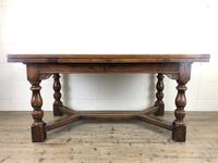 Extending Oak Draw Leaf Refectory Dining Table (13 of 17)