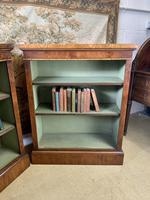 Pair of Burr Walnut Open Bookcases (2 of 8)