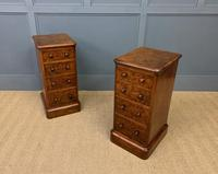 Victorian Pair of Burr Walnut Bedside Chests (8 of 14)