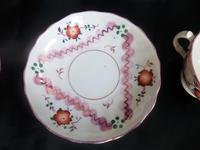 A Pair of Gaudy Welsh Cup & Saucers (4 of 5)