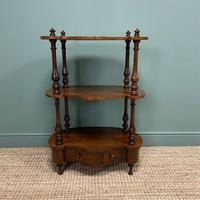 Quality Victorian Rosewood Antique Whatnot (4 of 9)