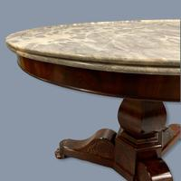 19th Century Marble Top Gueridon Centre Table (4 of 9)