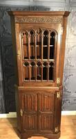 Gothic Style Oak Corner Cabinet (6 of 14)