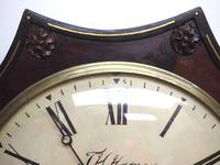 Rare Antique Drop Dial Wall Clock 8 Day Single Fusee Movement Signed J H Harvey Penzance (8 of 12)