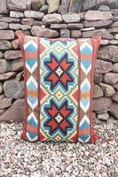 Swedish 'Folk Art' Vintage Large Woven Röllakan Cushion c.1930 (19 of 26)