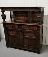 19th  Century Arts & Crafts Gothic Carved Oak Court Cupboard (7 of 8)