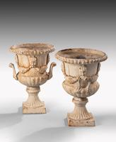 Attractive Pair of Late 19th Century Neoclassical Style Garden Urns (4 of 5)