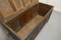 Large 18th Century Carved Oak Coffer (6 of 8)