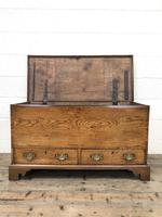18th Century Elm Mule Chest with Hinged Top (6 of 14)