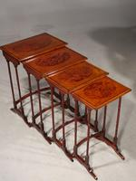 Elegant Late 19th Century Quartetto of Stacking Tables