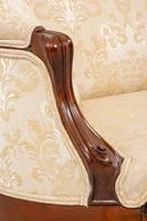 Victorian Mahogany Carved Settee (7 of 7)