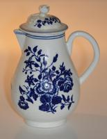 Worcester 'Three Flowers' Pattern, Sparrow-Beak Jug & Cover c.1770 / 1790 (2 of 11)
