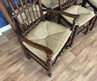 Set of Six Oak Spindle Back Dining Chairs (11 of 12)