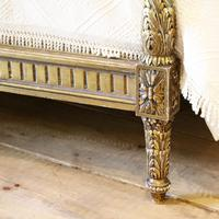 Gilded Louis XVI Matching Pair of Twin Single Caned Rattan Beds (6 of 8)