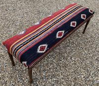 Kilim Covered Bench Stool (4 of 8)