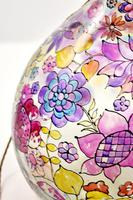 1960s Hand Painted Demi John Lamp with Floral Pattern (9 of 22)