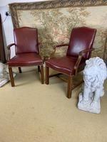 Pair of Victorian Mahogany Framed Armchairs (3 of 8)