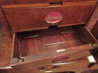Antique Walnut Three Drawer Filing Cabinet c.1900 (6 of 9)