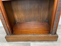 English Small Regency Style Dwarf Recessed Mahogany Open Bookcase (6 of 44)