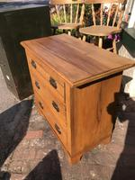 Antique Satin Walnut Three Drawer Chest of Drawers (7 of 8)