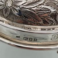 Antique George V Large Sterling Silver Menorah London 1921 Joseph Zweig (6 of 6)