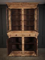 Carved Raw Oak Glazed Bookcase (8 of 21)