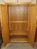 1970s Country Golden Oak 2 Door Wardrobe with Shelf (4 of 4)