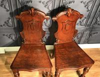 Pair of Victorian Mahogany Hall Chairs 318 (14 of 14)