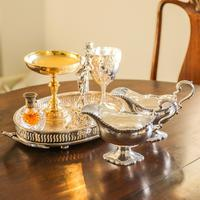Pair of Georgian Solid Silver Pedestal Sauce Boats - William Collins 1774 (3 of 24)