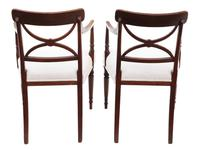 Pair of Regency Elbow, Carver or Desk Chairs c.1820 X Back (2 of 8)