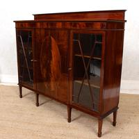 Bookcase Astragal Glazed Inlaid Mahogany (9 of 10)