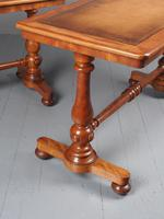 Pair of Victorian Satin Birch Library Tables (10 of 14)