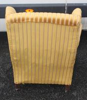 1940s Mahogany Wingback Armchair Upholstered in Gold. Nice Shape (2 of 3)