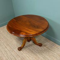 Spectacular Mahogany Small Victorian Circular Antique Dining Table (5 of 8)