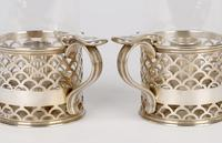 Elkington Pair of Crested Silver Plated Glass Storm Lamp Handled Lanterns 1888 (16 of 17)