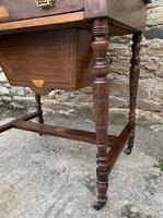 Antique Rosewood Inlaid Writing Desk (12 of 19)