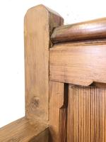 Pitch Pine and Oak Settle Bench with Storage (M-1522) (6 of 10)