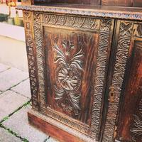 Carved Oak Adjustable Bookcase (5 of 12)