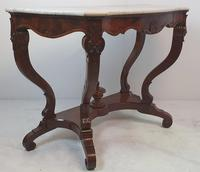 Pair of 19th Century Marble Topped Walnut Console Tables (2 of 9)