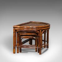 Antique Set of Nesting Tables, Oriental, Bamboo, Occasional, Side, Edwardian (2 of 10)