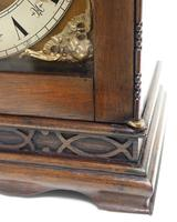 Superb Mahogany Arch Top Mantel Clock Westminster Musical Bracket Clock by Dent London (9 of 10)