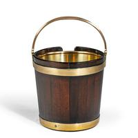 A George III mahogany and brass-bound plate bucket (5 of 6)