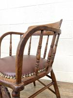 Antique Desk Chair with Leather Seat (9 of 10)