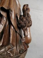 Decorative & Rare Complete Carved Walnut Sculpture of Hieronymus with the Lion (8 of 12)
