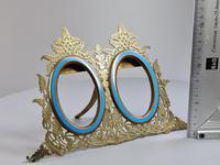 Stunning 19th Century 'Lovegrove & Flint' Double Brass & Turquoise Enamel Frame (7 of 8)