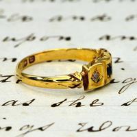 The Antique Victorian 1896 Sapphire & Diamond Ring (3 of 4)